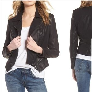 Blank NYC Faux Leather Moto Style Jacket Zippers S